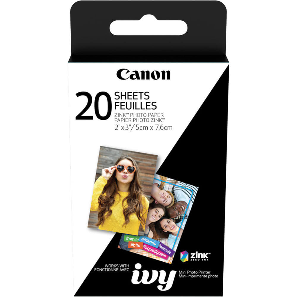 2 x 3 inch ZINK Photo Paper for CLIQ - 20 Sheets