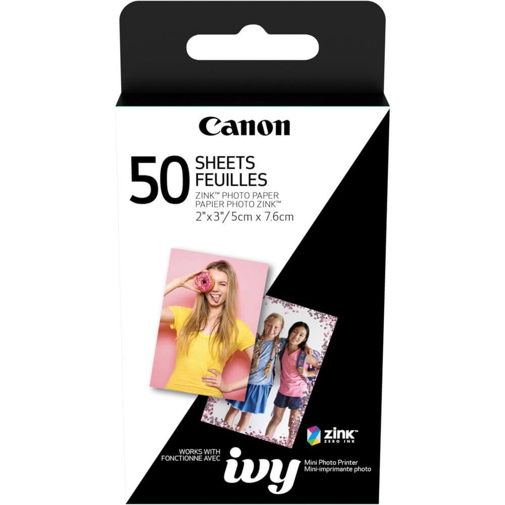 2 x 3 inch ZINK Photo Paper for CLIQ - 50 Sheets