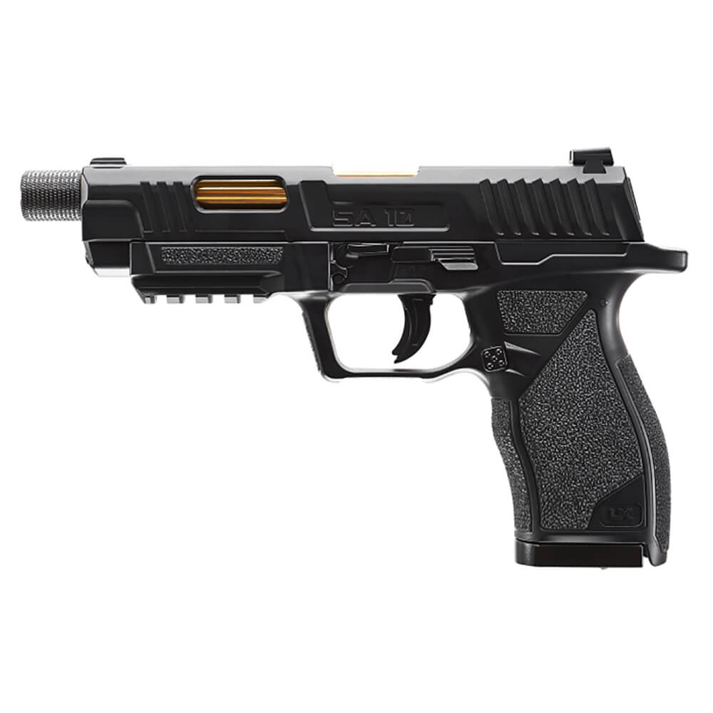 SA10 .177 Air Gun - Black (Gold Barrel)