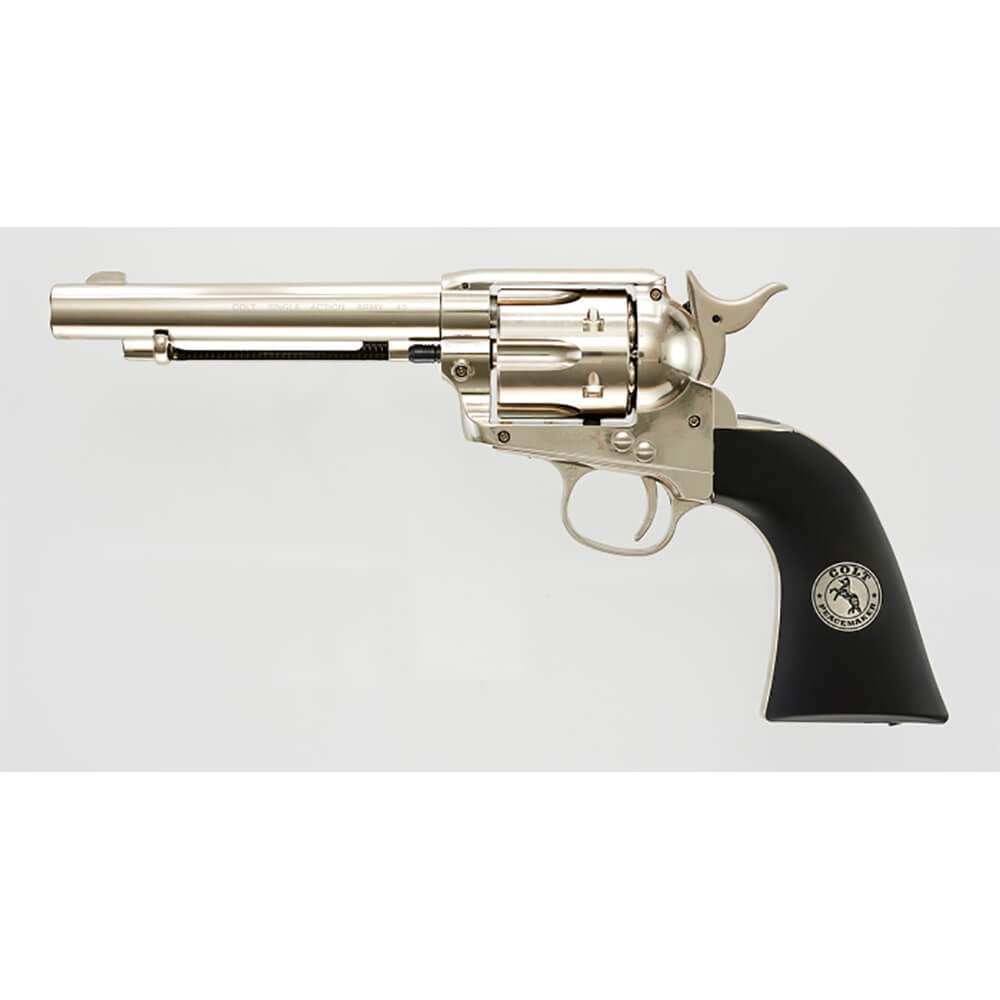 Colt Single Action Army 45 .177 Air Gun - Nickel/Black