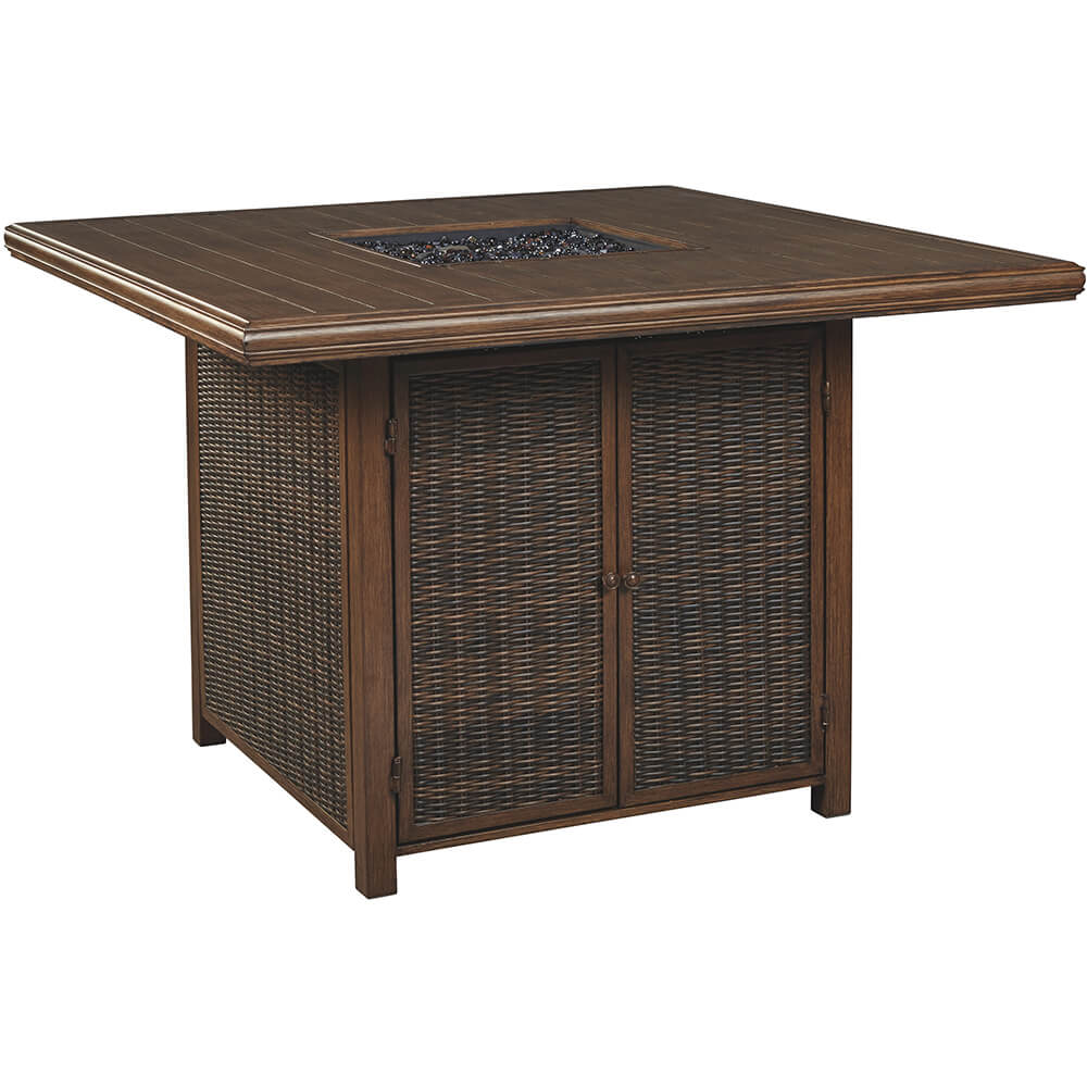 Paradise Trail Square Bar Table w/Fire Pit