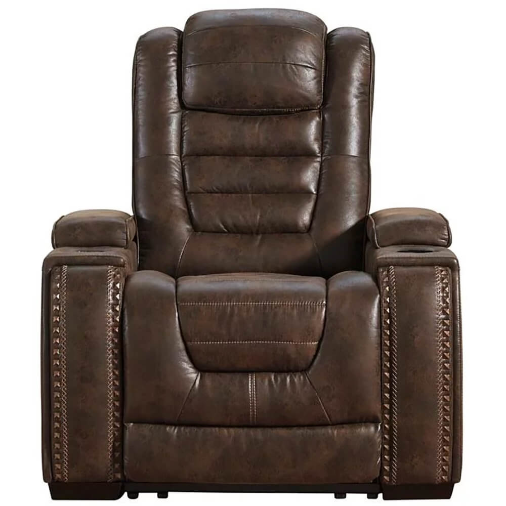 Game Zone Bark Power Recliner with Adjustable Headrest