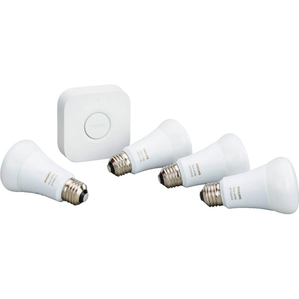 A19 Starter Kit (White Ambiance, 4-Pack)