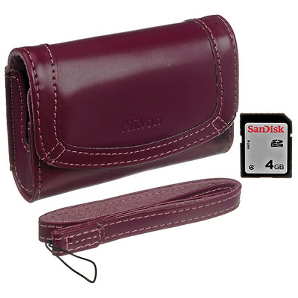 Camera case for S4000 w/4GB SD Card (Plum)