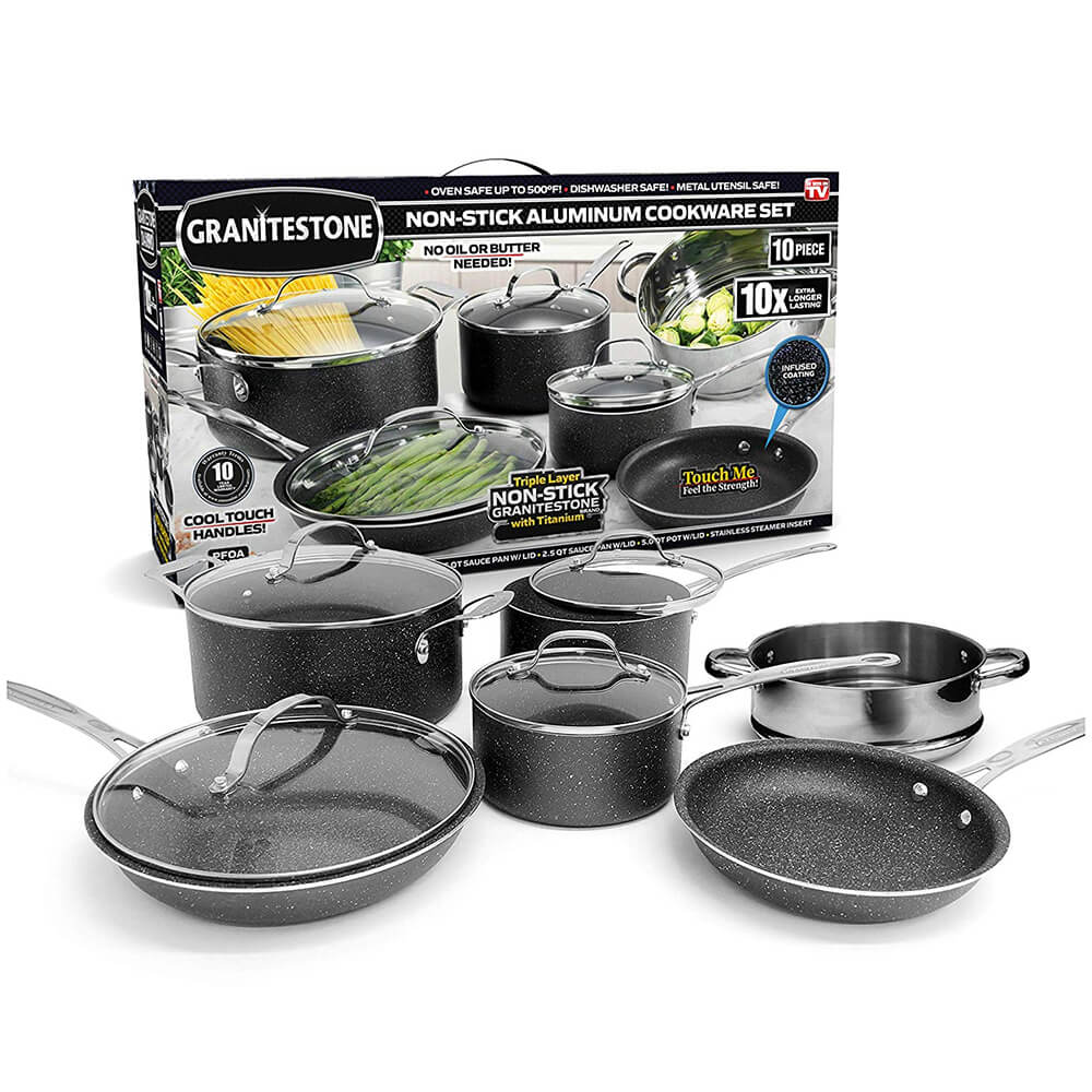 10 Pc. Stackable Cookware Set