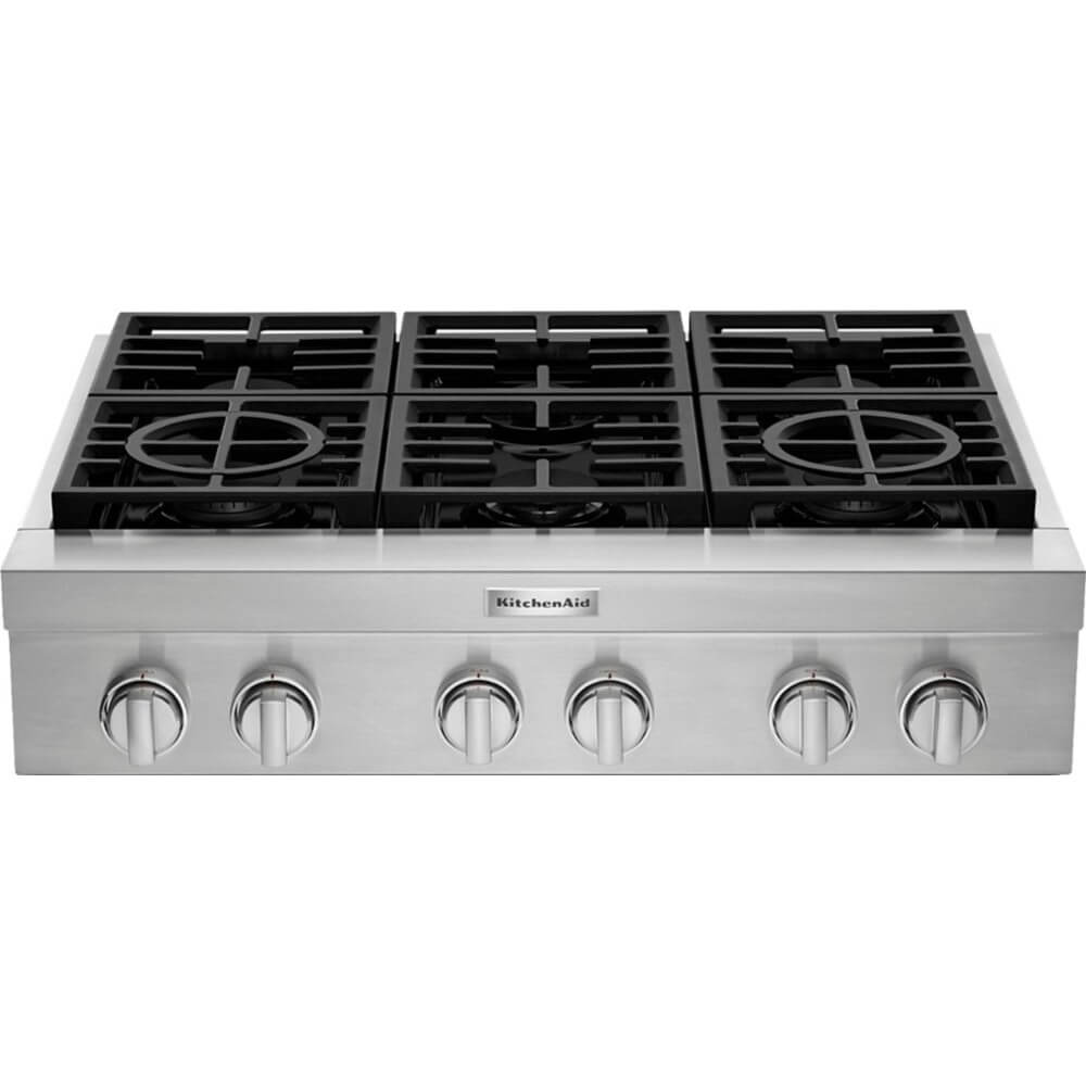 36 inch Stainless 6 Burner Gas Cooktop