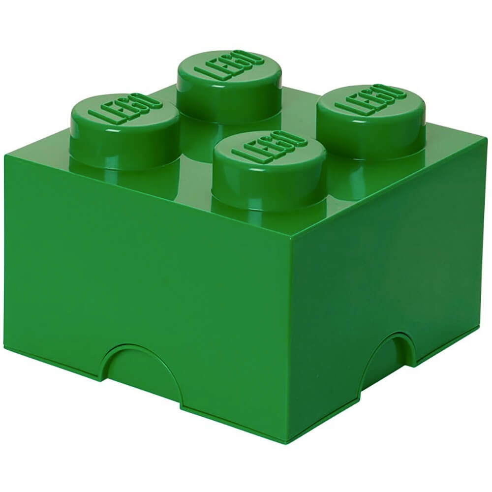 4-stud Dark Green Storage Brick