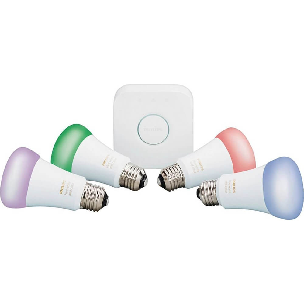 White and Color Ambiance A19 LED Starter Kit - Multicolor