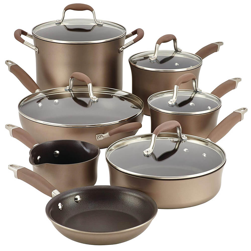 Advanced Hard Anodized Nonstick Cookware Set