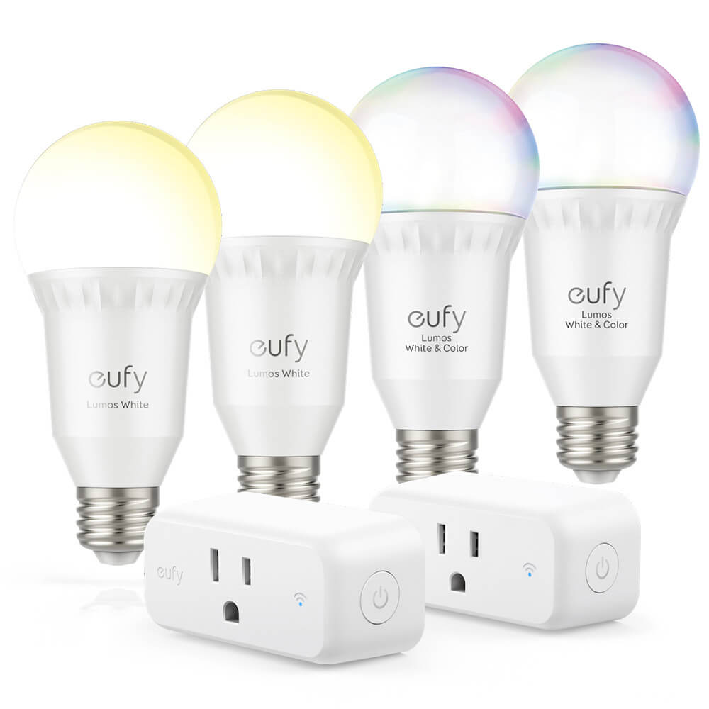 Lumos Smart Lighting Bundle - 2 White & 2 Color Bulbs, 2 Smart Plugs
