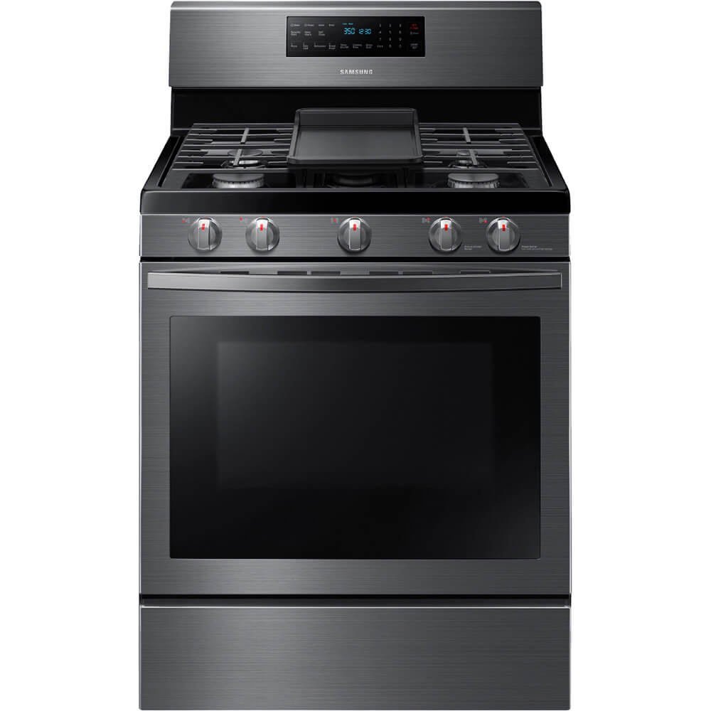 5.8 cu. ft. Black Stainless Freestanding Gas Range with Convection