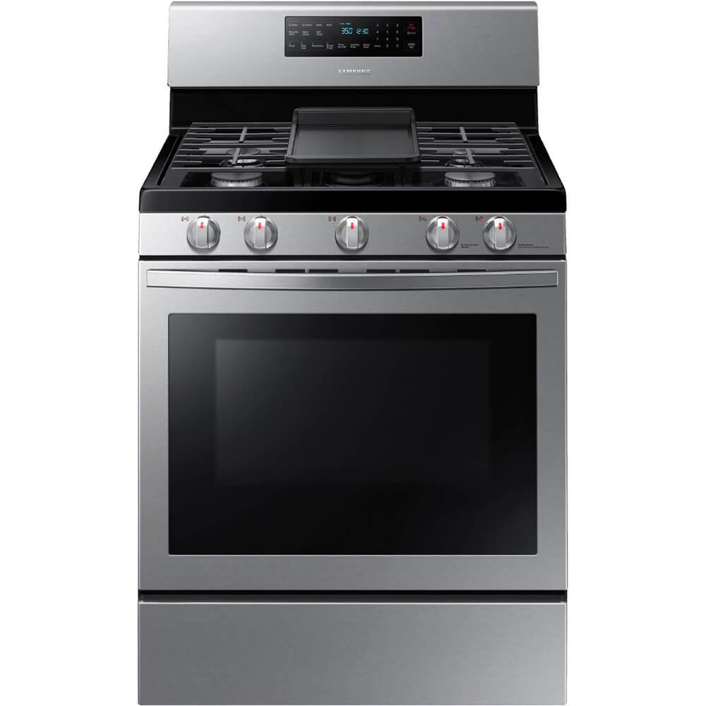 5.8 cu. ft. Stainless Freestanding Gas Range with Convection