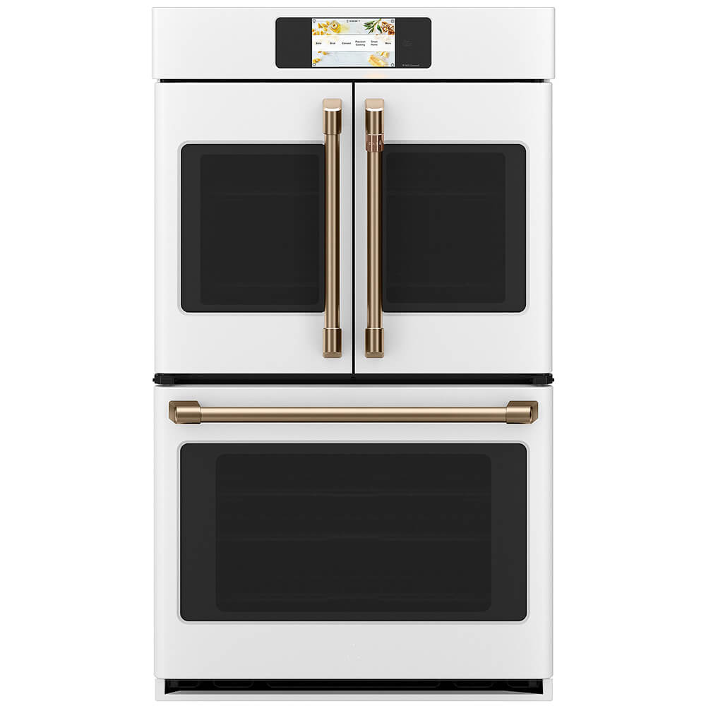 30 inch Matte White French Door Double Wall Convection Oven