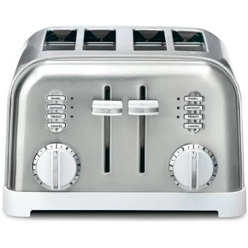 Metal Classic 4-Slice Toaster - White
