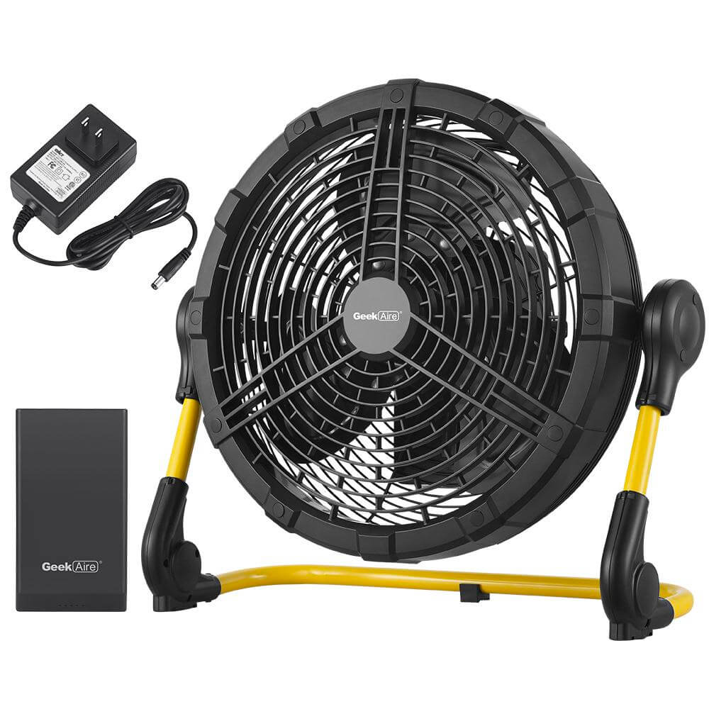 Cordless 12 inch Rechargeable Outdoor High-Velocity Floor Fan