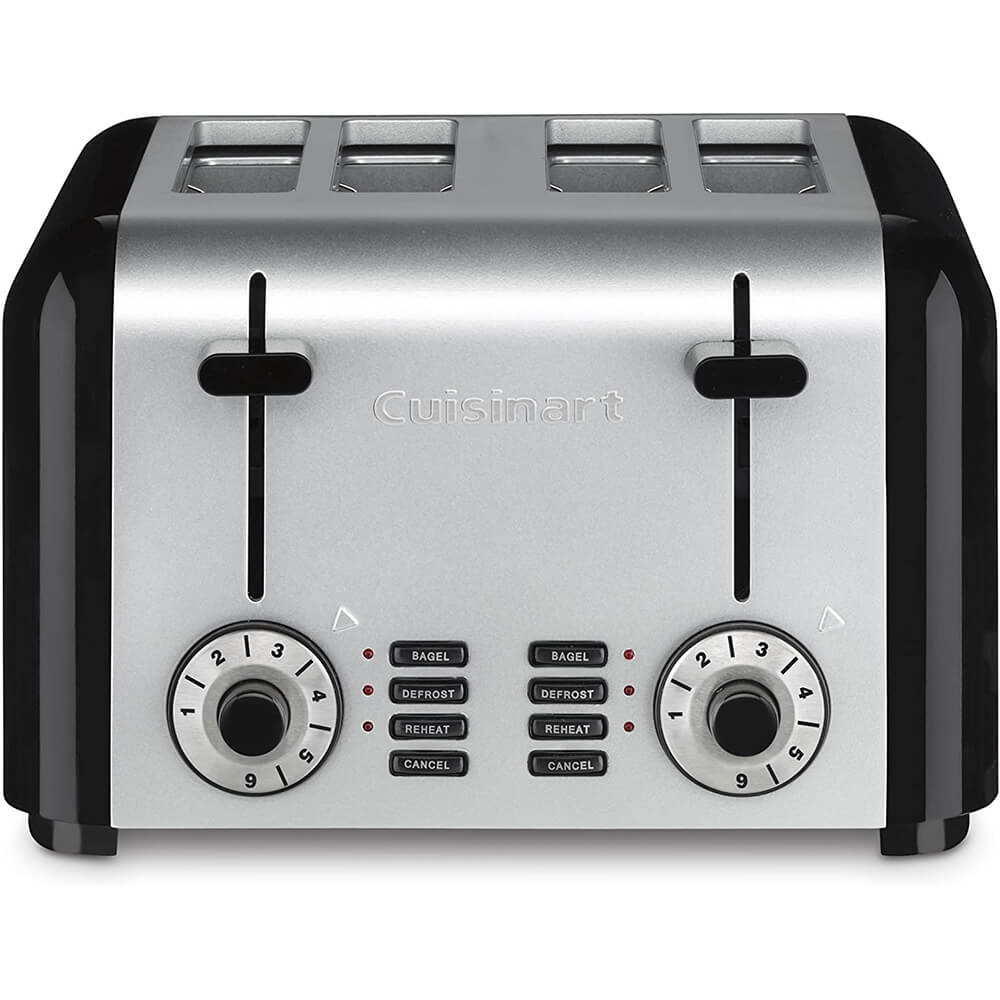 Compact Stainless 4-Slice Toaster