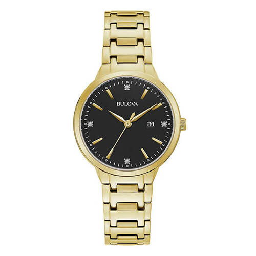 Womens Gold-Tone Bracelet Watch