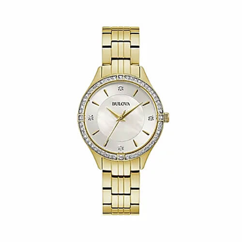 Womens Crystal Accent Watch