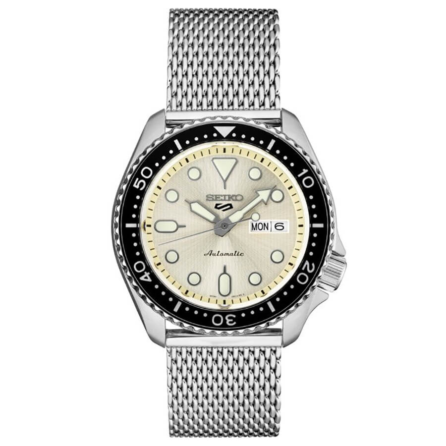 5 Sports 24-Jewel Stainless Steel watch with rotating bezel