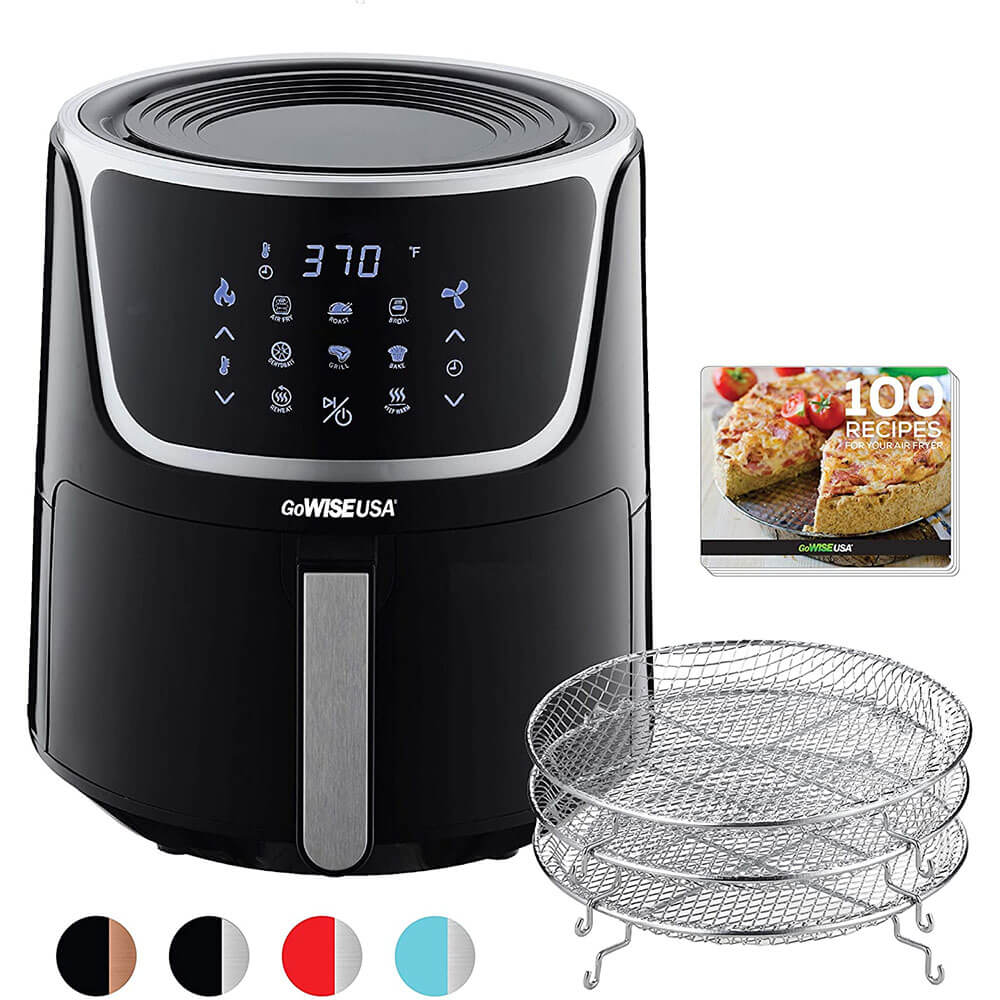 7-Quart Electric Air Fryer with Dehydrator & 3 Stackable Racks
