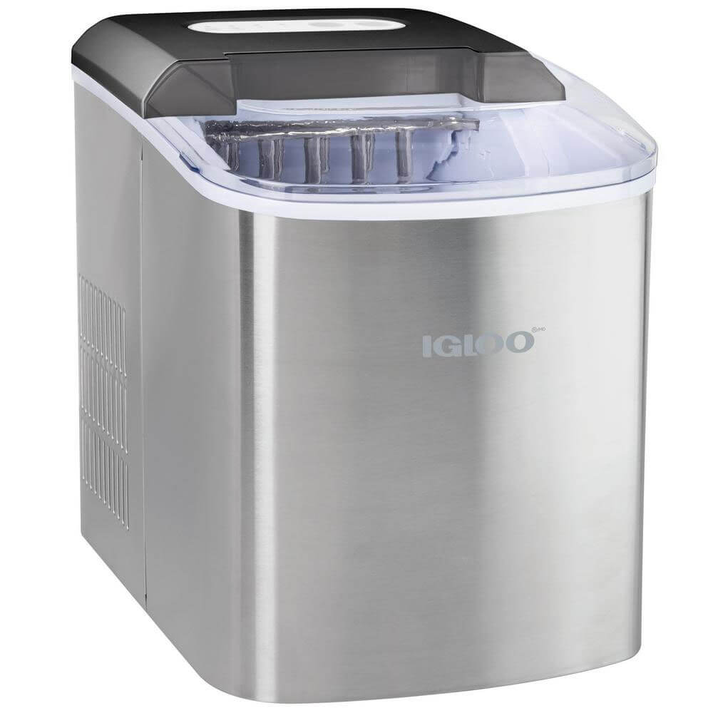 26 lb. Portable Ice Maker - Stainless Steel