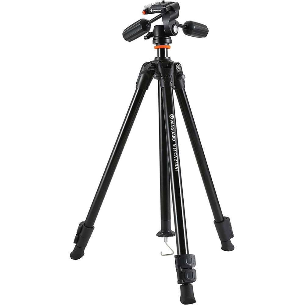 Aluminum Tripod W/ 3Way Pan/Tilt Head