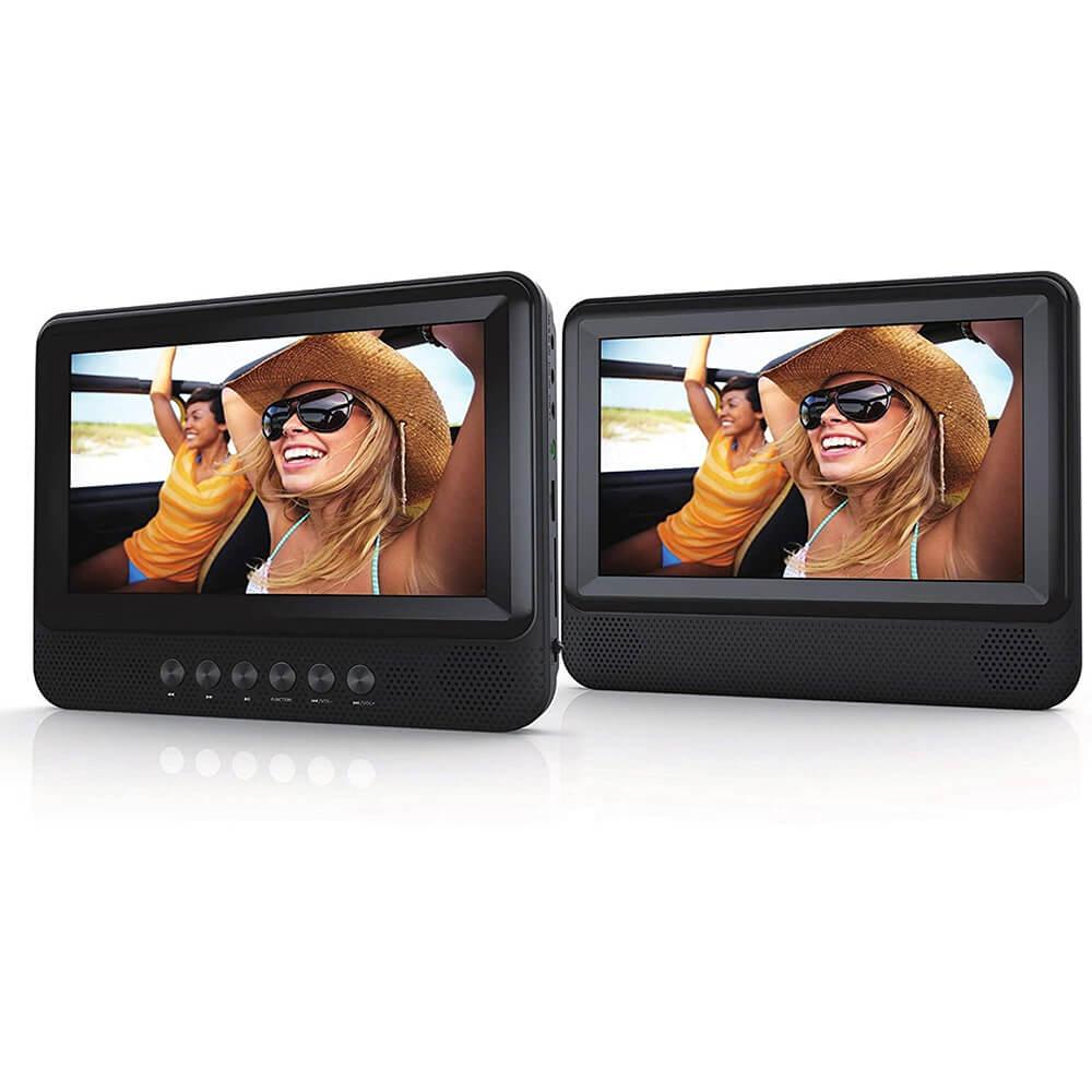 Sylvania SDVD7751 / SDVD7751R7 Dual Screen Portable DVD Player - Recertified