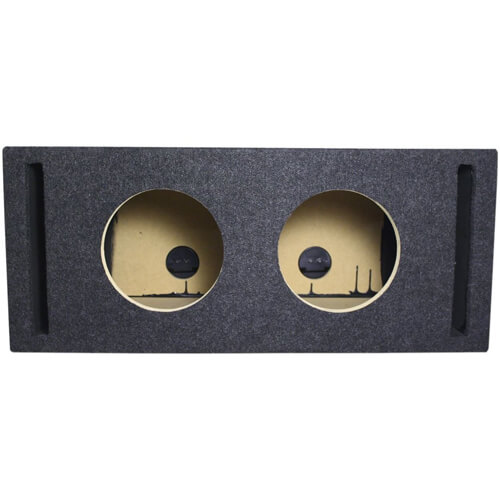 Dual 8 inch Vented Subwoofer Enclosure Box