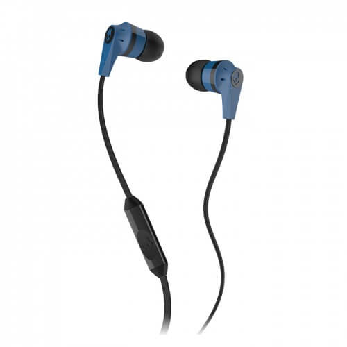 Inkd 2.0 Earbuds with Mic - Black/Blue