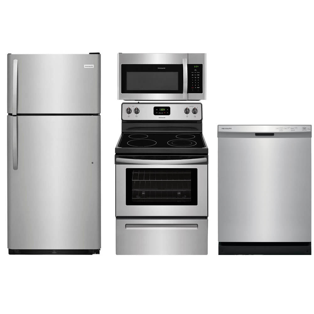 4 Pc. Stainless Top Freezer Kitchen Package