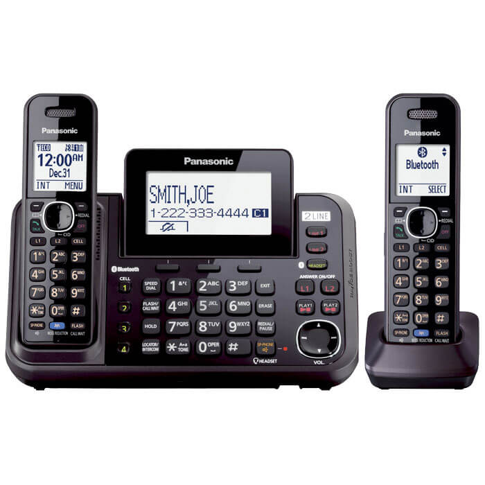 Link2Cell 2-Line Bluetooth Cordless Phone - 2 Handsets