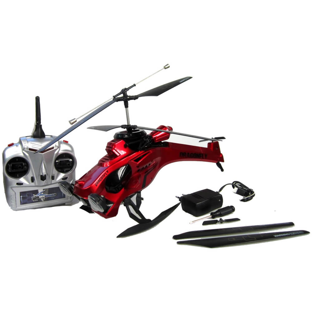 Dragon Fly 2.4 GHz Red RC Helicopter