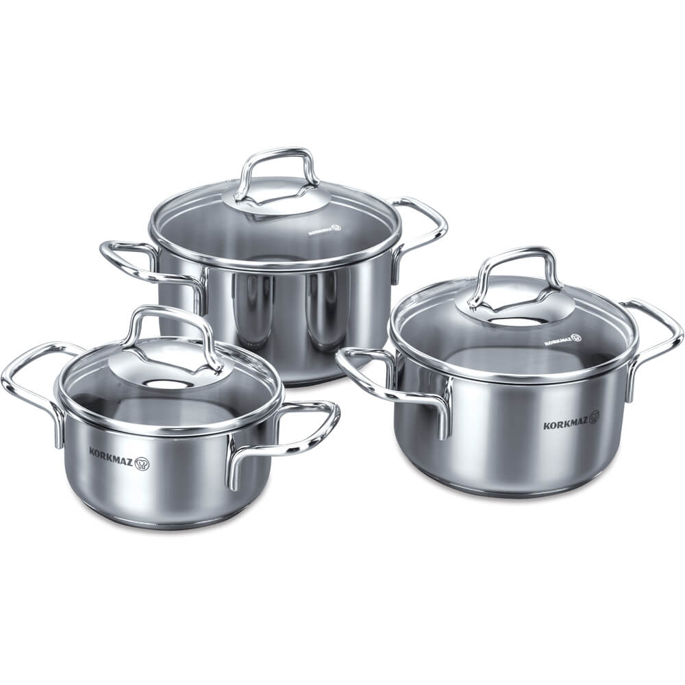 Perla JR. 6pcs. Caserole Cookware Set