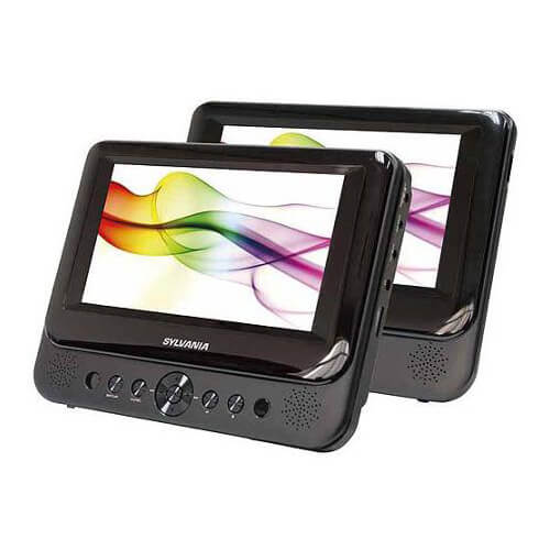 7 inch Dual Screen Portable DVD/CD/MP3 Player