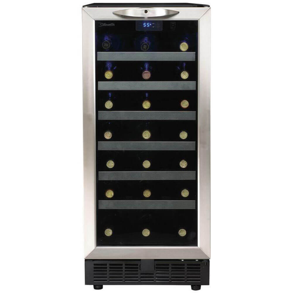 Stainless 34 Bottle Wine Cooler