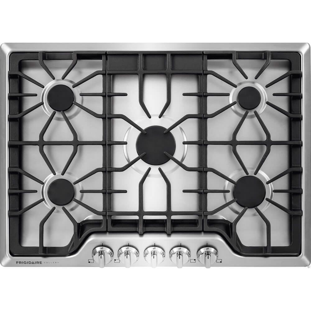 30 inch Stainless 5 Burner Gas Cooktop