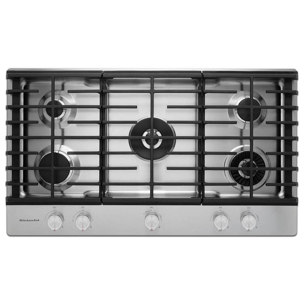 36 inch Stainless 5 Burner Gas Cooktop