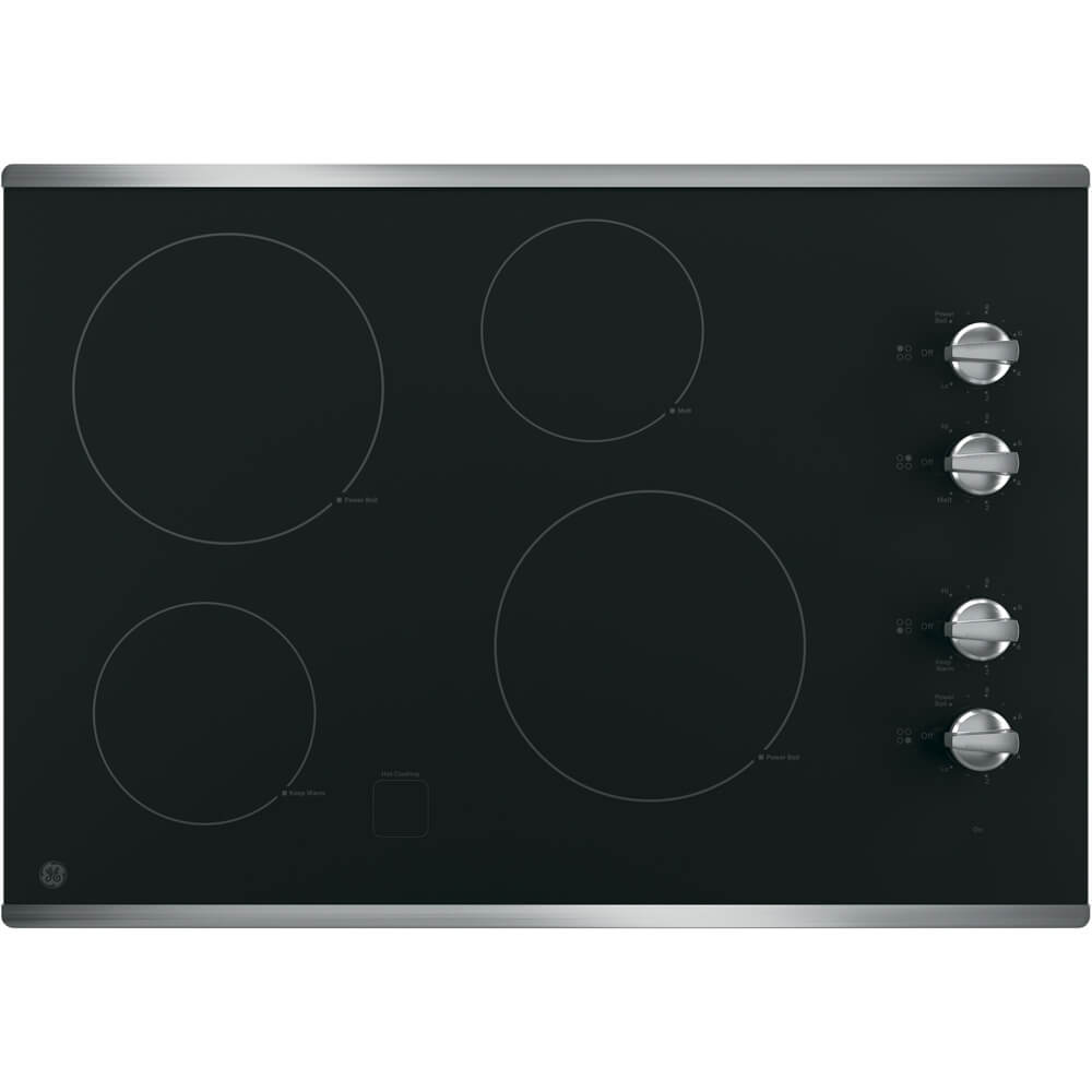30 inch Stainless 4 Burner Electric Cooktop