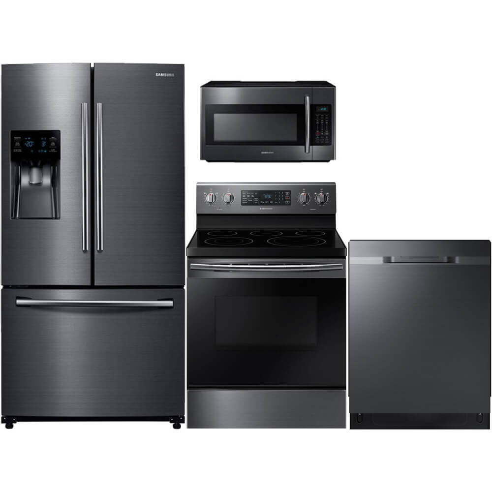 4 Pc. Black Stainless Kitchen Package