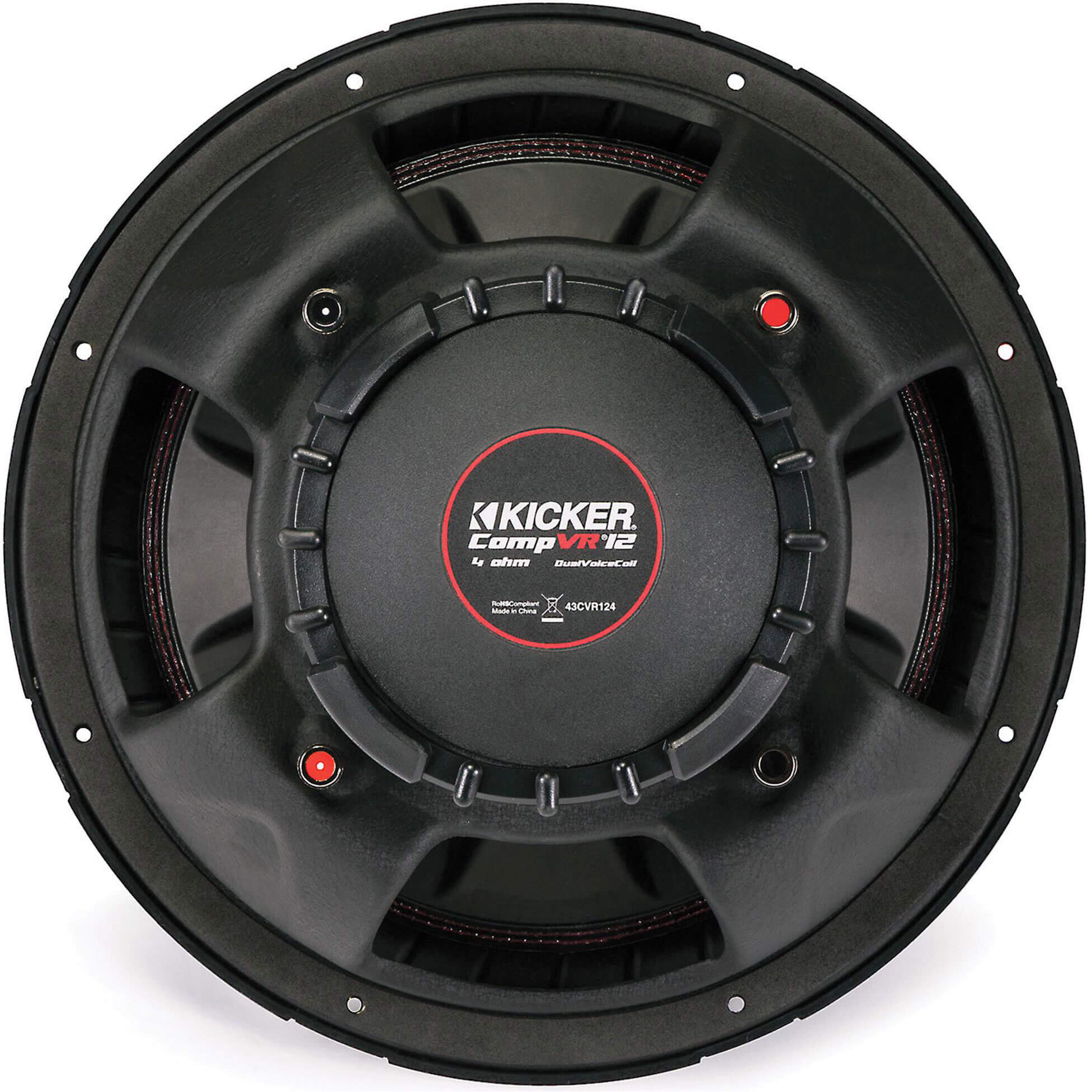 12 inch subwoofer with dual 4-ohm voice coils