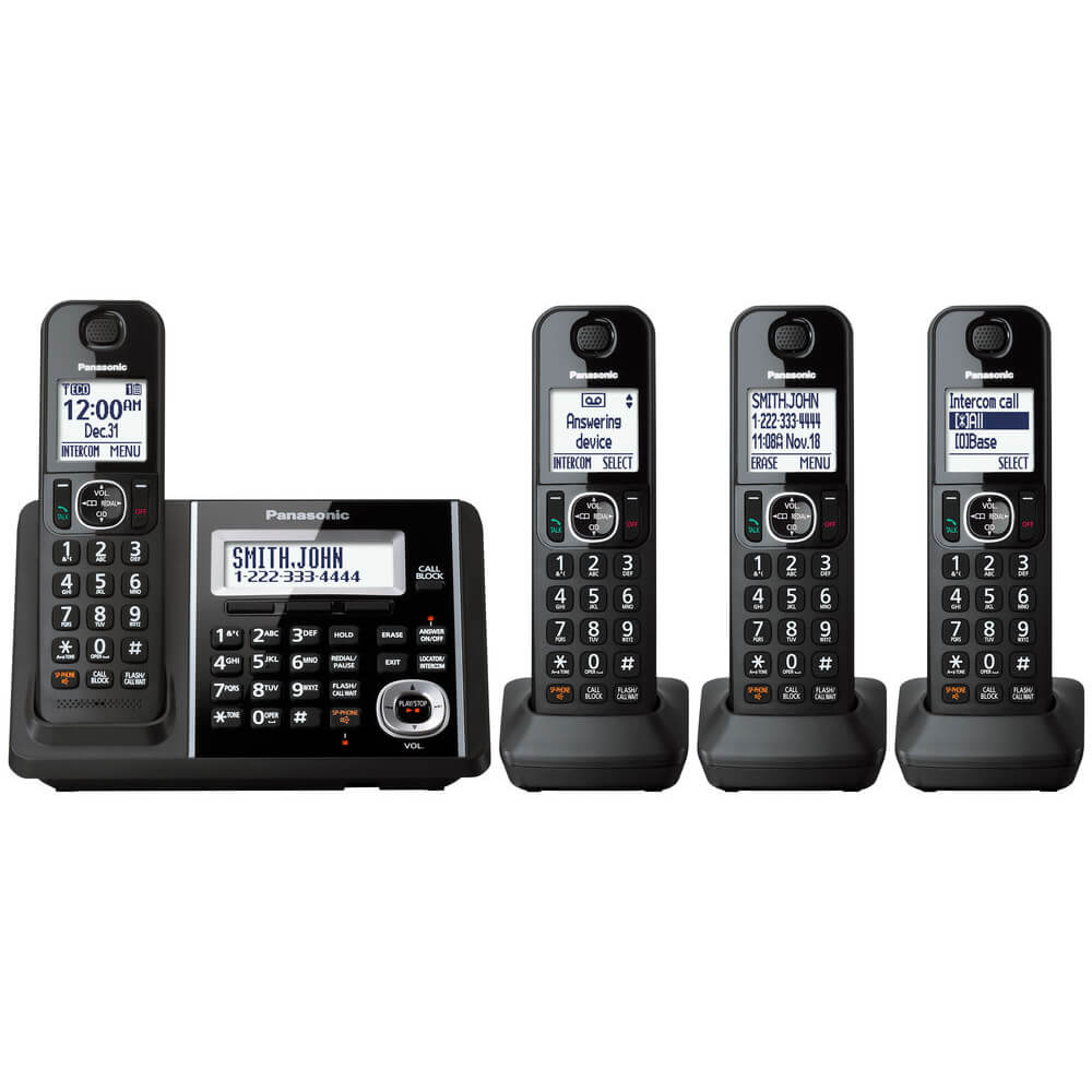 Cordless Phone and Answering Machine - 4 Handsets