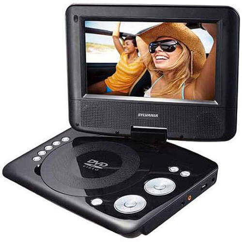 7 inch Portable DVD Player with Swivel Screen - Recertified