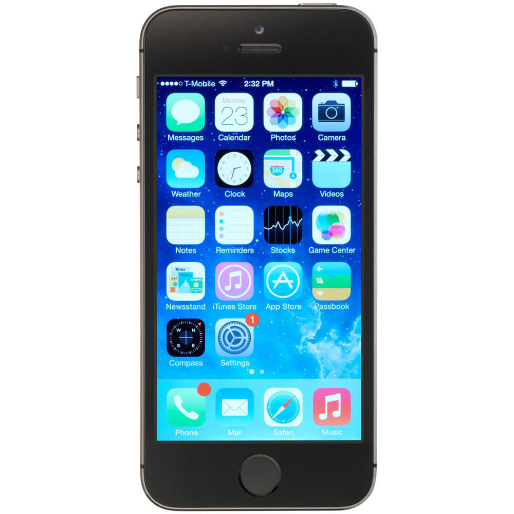 Unlocked iPhone 5S 16GB, iOS7, LTE - Space Gray - Recertified
