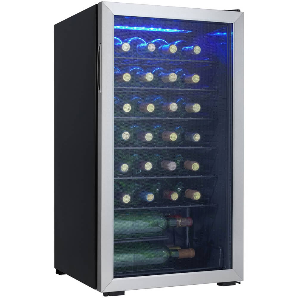 36 Bottle Stainless Wine Cooler