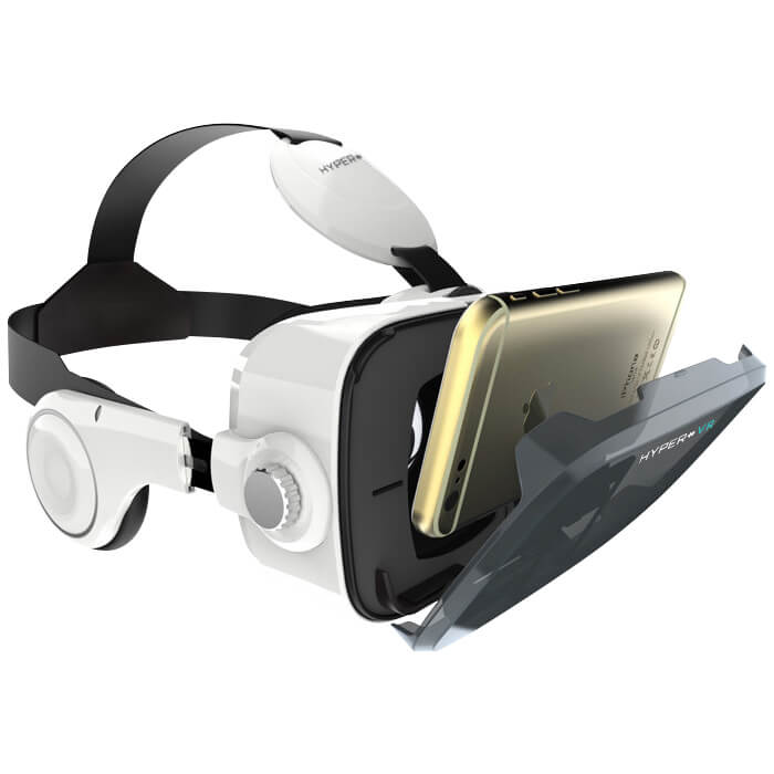 Virtual Reality Smartphone Headset with Headphones