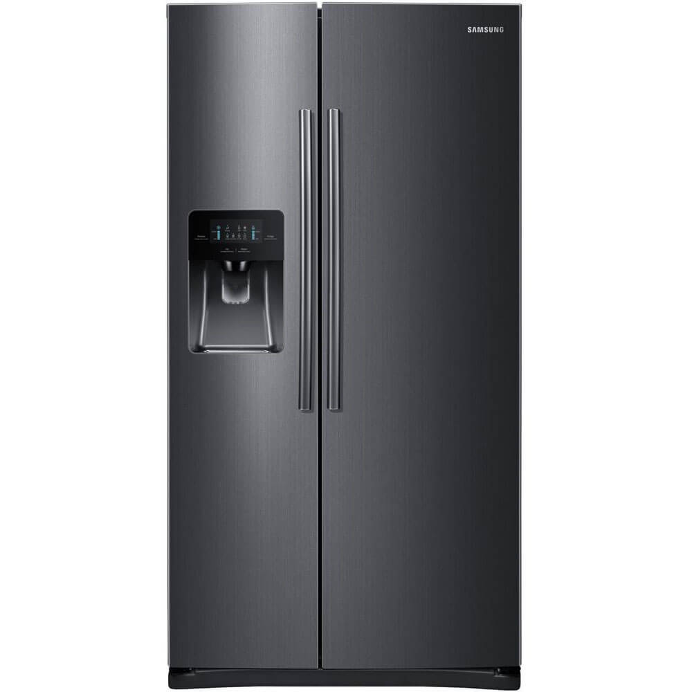 25 cu. ft. Black Stainless Side-by-Side Refrigerator