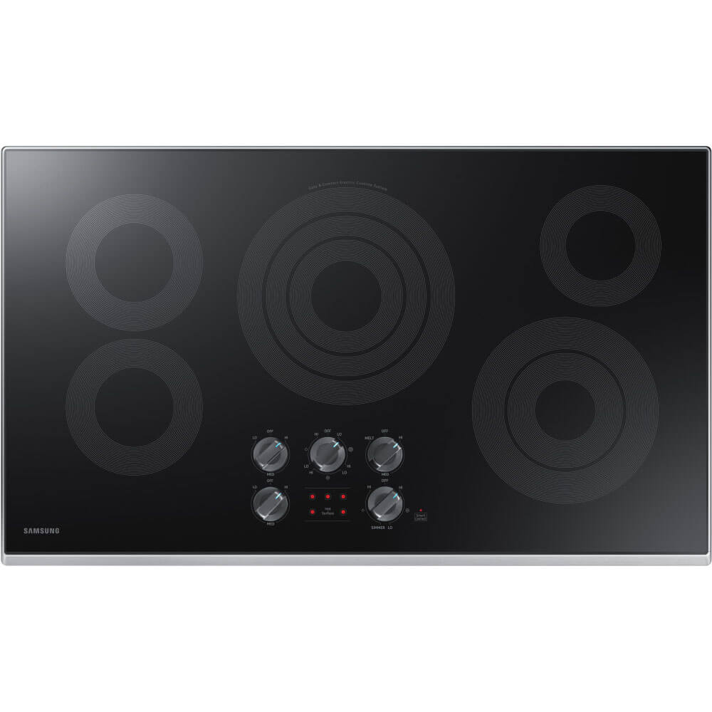 36 inch Stainless 5 Burner Electric Cooktop