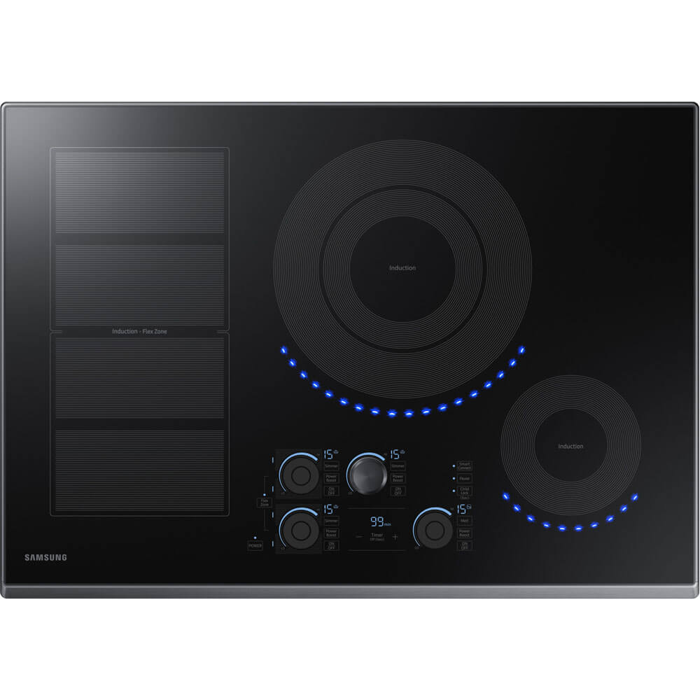 30 inch Black Stainless 5 Element Induction Electric Cooktop