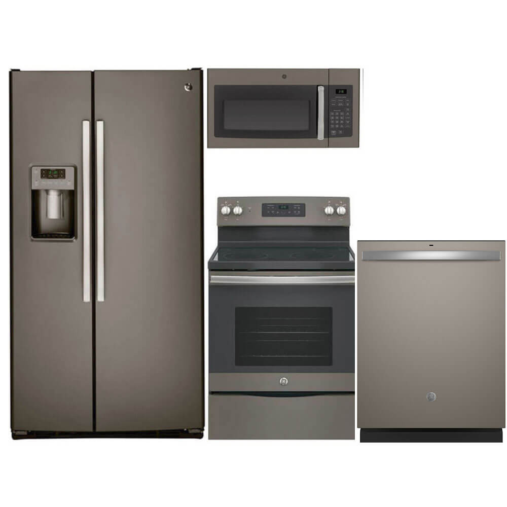 4 Pc. Slate Side-by-Side Kitchen Package