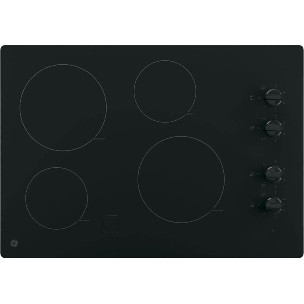 30 inch Black 4 Burner Electric Cooktop